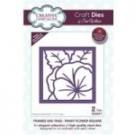 Sue Wilson Die Set Pansy Flower Square Set of 2 | Frames and Tags Collection