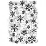 Woodware Polymer Stamp Clear Singles Snow Flurry