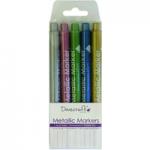 Dovecraft Metallic Marker Pen Set | Pack of 5