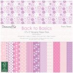 Dovecraft Paper Pad Back to Basics Pretty Petals 12in x 12in FSC | 36 Sheets