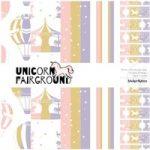 Sticker Kitten Unicorn Fairground Basics Paper Pack 6in x 6in | 30 Sheets