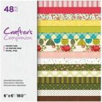 Crafter's Companion Printed Paper Pad Detailed Decorations 6in x 6in | 48 Sheets