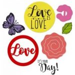 Sizzix Framelits Die Set with Stamps Cupcake Topper | David Tutera