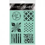 Hunkydory For the Love of Stamps A6 Set Patterned Panels Just for You | Set of 6