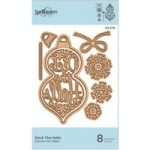 Spellbinders D-Lites Die Deck The Halls Holiday Collection | Set of 8