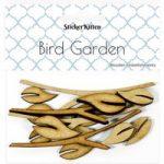 Sticker Kitten Bird Garden Wooden Leaves and Branches | Set of 16