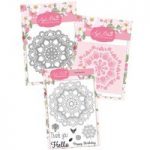 Apple Blossom Floral Mandala Die Stamp & Stencil Bundle