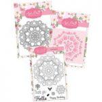 Apple Blossom Floral Mandala Die, Stamp, & Stencil Bundle