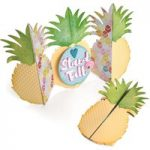 Sizzix Thinlits Die Set Card Pineapple Fold-a-Long Set of 10 | Jen Long