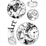 Woodware Clear Singles Vintage Circles Stamp Set