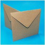 Craft UK 6in x 6in Kraft Envelopes 140gsm | Pack of 50