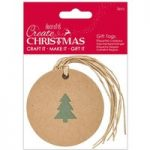 Docrafts Create Christmas Silhouette Kraft Gift Tag Tree | Pack of 5
