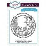 Sue Wilson Stamps To Die For My Secret Garden Circle Pre Cut Stamp