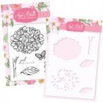 Apple Blossom Hydrangea Stamp & Stencil Bundle