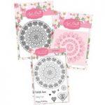 Apple Blossom Heart Mandala Die, Stamp, & Stencil Bundle