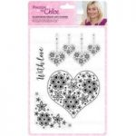 Stamps by Chloe Stamp Set Blossoming Heart and Corner | Set of 4