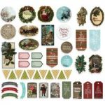 Couture Creations Die Cut Ephemera Tags Assorted Sizes Set of 45 | Highland Christmas Collection