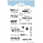 Elizabeth Craft Designs Stamp Set Furrever Friends Sentiments Set of 15 | Adventure Animals