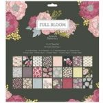 Papermania 12in x 12in Paper Pad 50 Sheets | Full Bloom