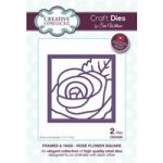 Sue Wilson Die Set Rose Flower Square Set of 2 | Frames and Tags Collection