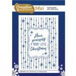 Creative Dies Plus Embossing Folder Merry Little Christmas 5in x 7in