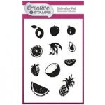 Creative Stamps A6 Stamp Set Watercolour Fruit | Set of 11