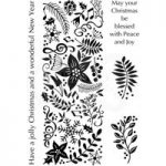 Woodware Polymer Stamp Clear Singles Festive Panel | Set of 5