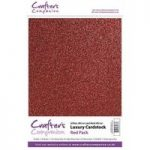 Crafter's Companion Luxury Cardstock Pack – Red