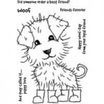 Woodware Clear Stamp Set Puppy Boots