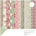 V&A Paper Pack 8in x 8in FSC Chintz Fabric and Lace Patterns | 36 Sheets