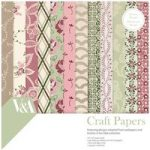 V&A Paper Pack 6in x 6in FSC Chintz Fabric and Lace Patterns | 48 Sheets