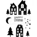 Woodware Polymer Stamp Clear Singles Christmas Street | Set of 10