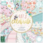 First Edition Paper Pad Let's Celebrate 12in x 12in FSC | 48 Sheets