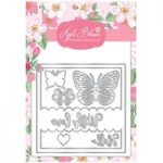 Apple Blossom Die Set Butterfly Sentiment Card | Set of 10