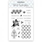 Sticker Kitten Bird Garden Photopolymer Stamp Set | Set of 19