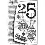Woodware Polymer Stamp Clear Singles 25th December