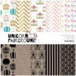 Sticker Kitten Unicorn Fairground Designer Paper Pack 6in x 6in | 30 Sheets