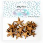 Sticker Kitten Mermaid Treasures Wooden Starfish | Set of 20