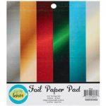 CraftStash Paper Pad Cardstock Foil Pad 6in x 6in | 18 Sheets
