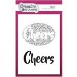 Creative Stamps A6 Stamp Cheers Sentiment Set of 2 | Focal Stamps Collection
