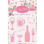 Apple Blossom 6in x 6in Stencil Glasses & Bubbles | Drink Trolley Collection