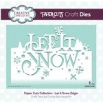 Creative Expressions Die Let it Snow Festive Wording Edgers | Paper Cuts Collection