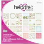 Heartfelt Creations 12in x 12in Paper Pad Double Sided Cherry Blossom Retreat | 24 Sheets