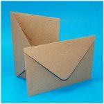 Craft UK 5in x 7in Kraft Envelopes 140gsm | Pack of 50