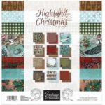 Couture Creations Paper Pad 12in x 12in 24 Sheets | Highland Christmas Collection