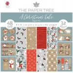 The Paper Tree 8in x 8in Paper Kit Paper Pad & Die Cut Toppers | A Christmas Tale