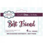 Sue Wilson Die Set Mini Shadowed Sentiments Best Friend Set of 4