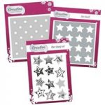 Creative Die Stamp & Stencil Set Star | Geometric Shapes Collection