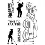Woodware Clear Stamp Set Ready to Tee Off