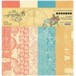 Graphic 45 12in x 12in Paper Pad Patterns & Solids 16 Sheets | Imagine Collection